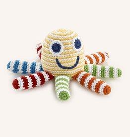 Pebble Rainbow Octopus Rattle