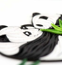 Quilling Card Quilled Two Pandas Card