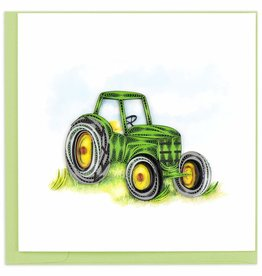 Quilling Card Quilled Green Tractor Greeting Card