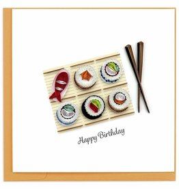 Quilling Card Quilled Birthday Sushi Card