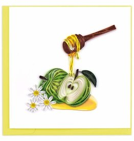 Quilling Card Quilled Rosh Hashanah Apples & Honey Card