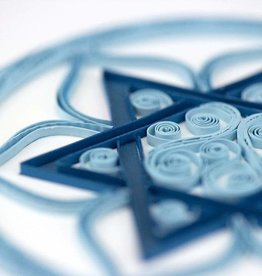 Quilling Card Quilled Star of David Card