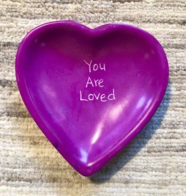 Venture Imports Word Heart Dishes - You Are Loved