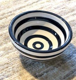 Sobremesa Black Spiral Tiny Ceramic Bowl