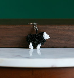 Lucia's Imports Sheep Beaded Keychains