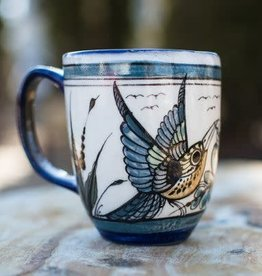 Lucia's Imports Wild Bird Latte Cup