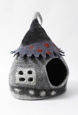 Dharma Dog Karma Cat Grey Fairy House Pet Cave