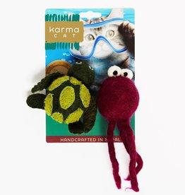 Dharma Dog Karma Cat Turtle & Jellyfish Cat Toys