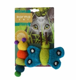 Dharma Dog Karma Cat Caterpillar & Butterfly Cat Toys