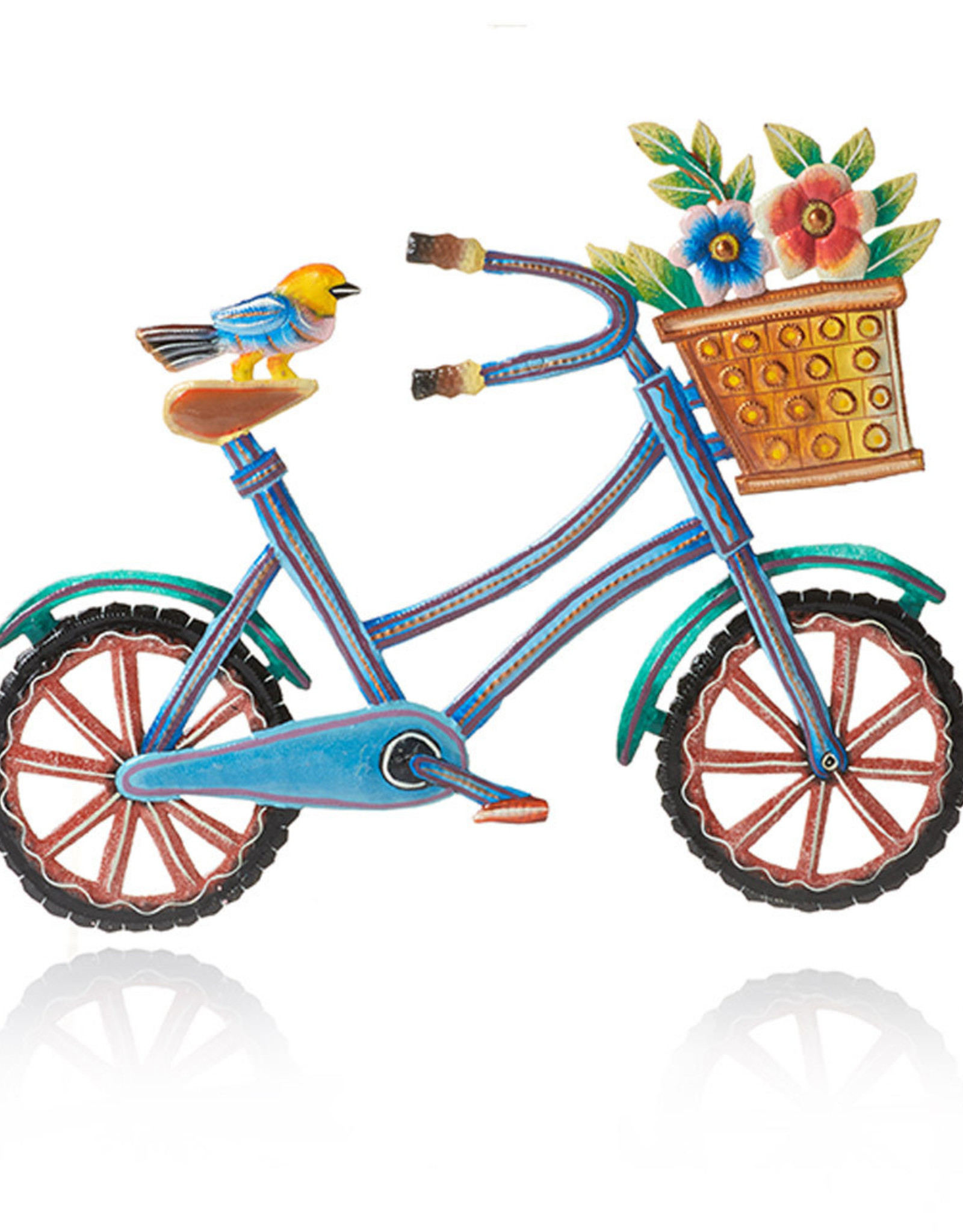Serrv Bird on a Bike Wall Art