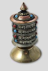 Ganesh Himal Medium Brass Tabletop Prayer Wheel