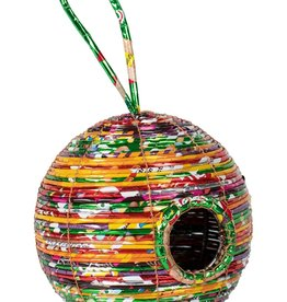 Ten Thousand Villages Round Recycled Birdhouse
