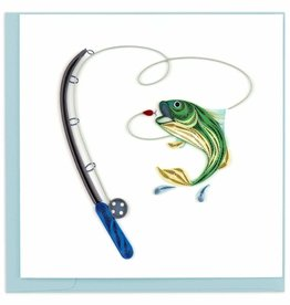 Quilling Card Quilled Gone Fishing Greeting Card