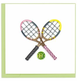 Quilling Card Quilled Tennis Rackets Greeting Card