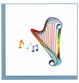 Quilling Card Quilled Harp Greeting Card