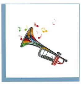Quilling Card Quilled Trumpet Greeting Card