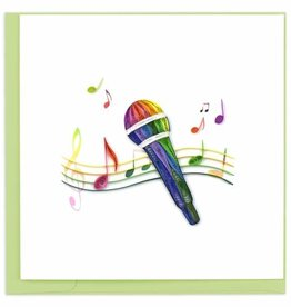 Quilling Card Quilled Microphone Greeting Card