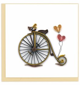 Quilling Card Quilled Vintage Bicycle Card
