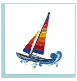 Quilling Card Quilled Colorful Sailboat Card