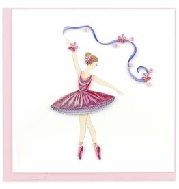 Quilling Card Quilled Ballerina Card