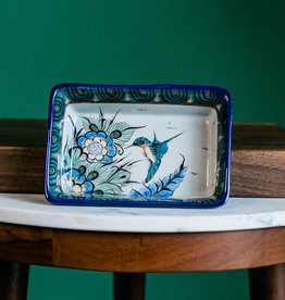 Lucia's Imports Wild Bird Rectangle Dish