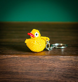 Lucia's Imports Duckie Beaded Keychain