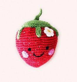Pebble Strawberry Rattle - Friendly
