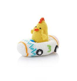 Serrv Crocheted Racer Chicken #3