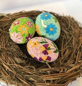 Serrv Quilled Grand Floral Egg