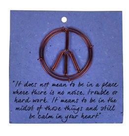 Ten Thousand Villages Peace Bookmark