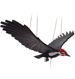 Tulia Artisans Pileated Woodpecker Bird Flying Mobile