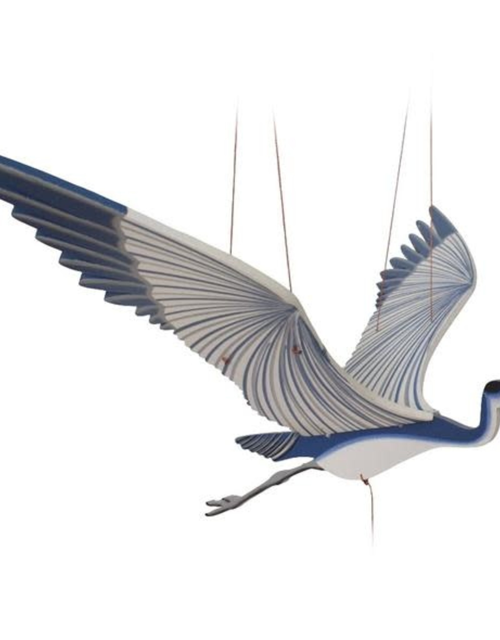 Tulia Artisans Blue Heron Flying Bird Mobile