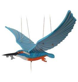 Tulia Artisans Kingfisher Flying Bird Mobile
