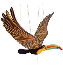 Tulia Artisans Toucan Flying Bird Mobile