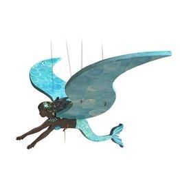 Tulia Artisans Black Mermaid Flying Mobile