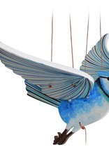 Tulia Artisans Blue Jay Flying Bird Mobile