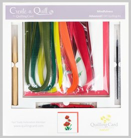 Quilling Card Advanced Quilling Kit - Red Poppy