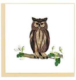 Quilling Card Quilled Great Horned Owl Card
