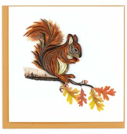 Quilling Card Quilled Squirrel Greeting Card