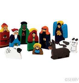Serrv Bright Wood Nativity