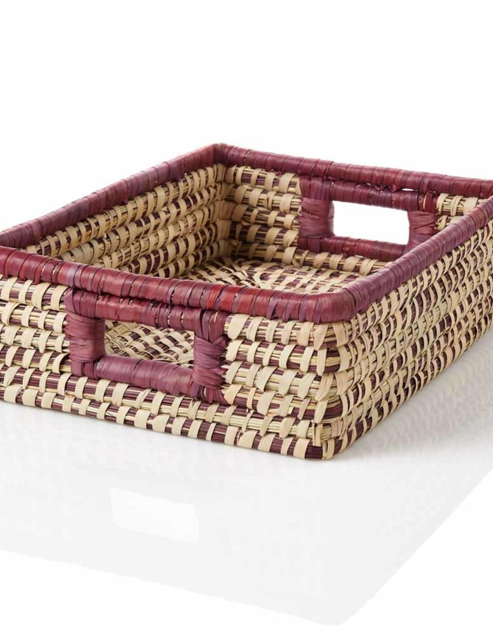 Serrv Amethyst Stripe Tray Basket