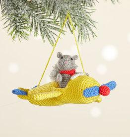 Serrv Pilot Squirrel Crocheted Ornament