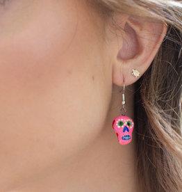 Lucia's Imports Skeleton Ceramic Earrings