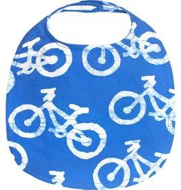 Global Mamas Baby's Bib - Blue Bikes