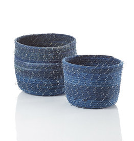 Serrv Dhaka Denim Baskets - Large
