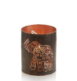 Serrv Elephant Iron Lantern