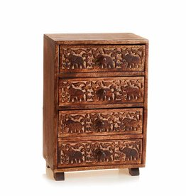 Serrv Tabletop Elephant Chest