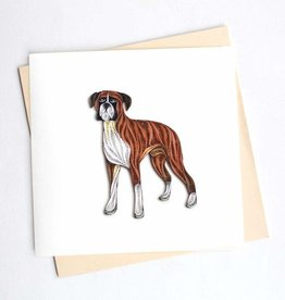 Quilling Card Quilled Boxer Greeting Card