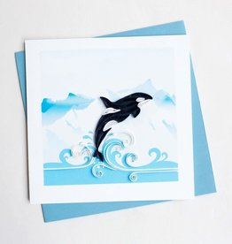 Quilling Card Quilled Orca Whale Greeting Card