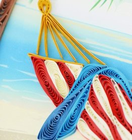 Quilling Card Quilled Tropical Beach Greeting Card